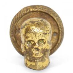 Gold Skull Hook #furbishstudio