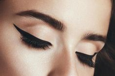 bold brows + winged eyeliner