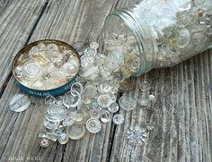glass buttons...