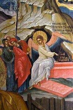 Religious Icons, Religious Art, Jesus Resurrection, Orthodox Icons, Medieval Art, Vignettes, Madonna, Painting, Sunday