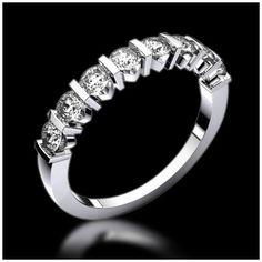Découvrez l'alliance Xena Or ou Platine, diamants demi tour - Toutes les alliances Jaubalet sont personnalisables ou réalisables sur mesure