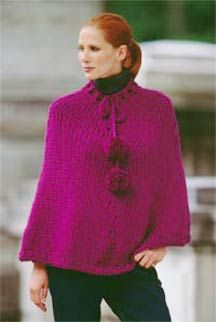 Knitted Poncho - for when I am feeling really brave about my knitting skills....