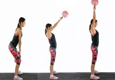 Tabata kettlebell swing - Workouts for toned arms - Women's Health & Fitness
