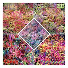 ORIGINAL Rainbow Looms Farben Opak Jelly Glitzer Neon Mix