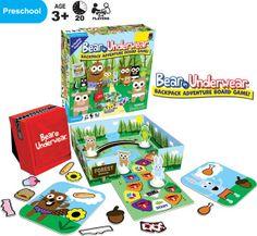 The Bear in Underwear Game for preschoolers