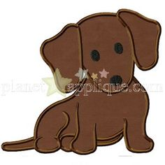 Daushchund Puppy Applique