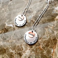 Personalized Couples Necklace  Hand Stamped by BlueCornerCreasigns