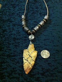 Necklace made with arrowhead dug in TX