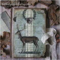 Woodland magic diary journal notebook vintage by BethStyleBook