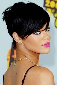 This was my fav hairstyle on Rihanna. She has a long neck that looks gorg with short hair. Plus it looks edgy and tough!