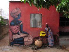 "Florilège: JULIEN ""SETH"" MALLAND - GLOBE PAINTER - FRANCE // #motherhood #woman #blackwoman #Africanbeauty #color"