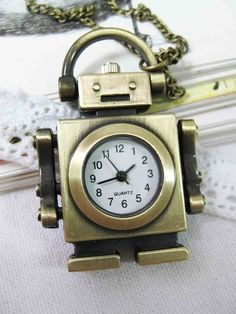 Your place to buy and sell all things handmade Old Pocket Watches, Lockets, Locket Necklace, Robots, Quartz, Xmas, Clock, Buy And Sell, Child