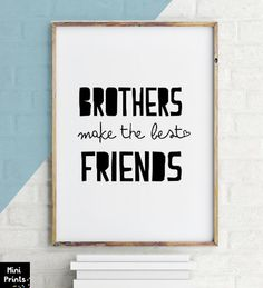 Brothers Make the Best Friends, Brothers Wall Art ,Twin Brothers Quote, Twin Nursery Decor, Twin Boys Nursery Decor, Twin Boy Baby Gift, APF by ArtPrintsFactory on Etsy