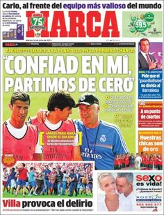 Los Titulares y Portadas de Noticias Destacadas Españolas del 16 de Julio de 2013 del Diario Marca ¿Que le pareció esta Portada de este Diario Español?