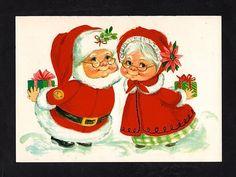 Made in Sweden folding Victorian Santa Claus paper running ...