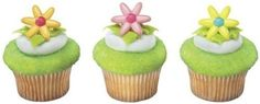 24 ct - Spring Flower Daisy Cupcake Rings * See this awesome image @ : baking decorations