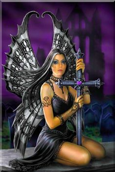 WKD Angel 2 Cross Stitch [gothic angel fairy] - 504 x 408 stitches On 14 count Aida finished design will be x -- x On 18 count Aida finished design will be x -- x On 22 count Aida finished design will be x -- x Fantasy Women, Dark Fantasy, Fantasy Art, Anne Stokes, Magical Creatures, Fantasy Creatures, Woodland Creatures, Fairy Wallpaper, Gothic Wallpaper