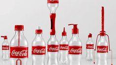 Coca Cola opzet stukken - voor hergebruik van flesjes
