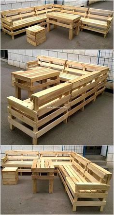 Make pallet sofa table with the favor of reused wood pallets join them, then color these wood pallets according to your required scheme. Mini stool seems to be kind for kiddo sitting purposes. This project is economical as well wonderful in its own words. Do craft such projects for out door meetings or get-together functions.