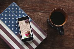 Allt om mat -  redesign på mobilwebb. Mockup.
