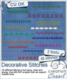 #Decorative #Stitches - #Font - It is not always easy to find stitching that really matches your project.
