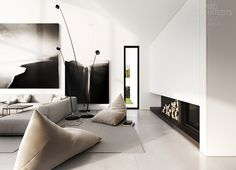 Interior design of a detached house, Warsaw