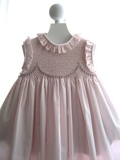 Gown smocking dress
