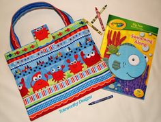 kids arts and crafts storage beach vacation tote coloring book and crayons child - Coloring Book And Crayon Holder