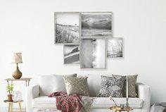 Beach photography, Black and white sea photography, Set of 5 Beach prints Black and White photo print Minimal Decor