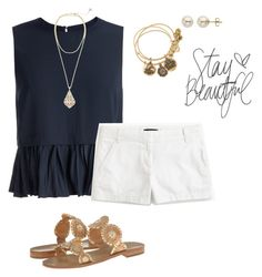 """""""@get-preppy addition in description"""" by pretty-girl-prep ❤ liked on Polyvore featuring Elizabeth and James, J.Crew, Kendra Scott, Alex and Ani, Lord & Taylor and Jack Rogers"""