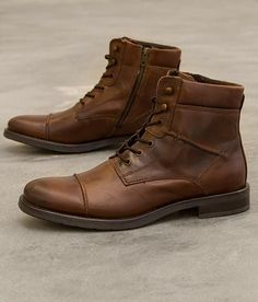 "GBX Brisk Boot -- I'd want it in ""dark tan"" Bottes Red Wing, Leather Men, Leather Shoes, Men Dress, Dress Shoes, Mens Boots Fashion, Designer Boots, Men S Shoes, Casual Boots"