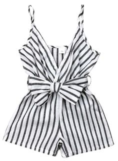 Baby Girls Romper Toddler Sleeveless Backless Striped Romper Jumpsuit Outfits Newborn Baby Stripe Open Back