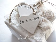 simply beautiful clay gift tag