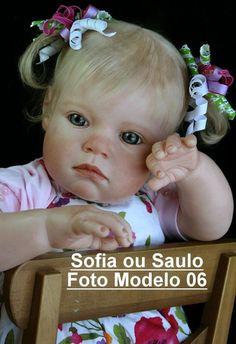 Boneca Bebê Reborn Sofia ou Saulo um ano