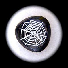 PAiR Czech Glass Buttons 27mm  1 1/16 inch Black by brizelsupplies