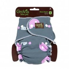 GroVia Kiwi Pie Fitted Diapers - Cozy Bums Diapers