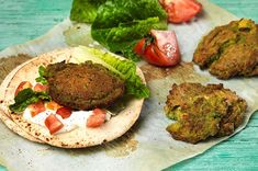 Argiro's Falafel Recipe - To serve: Middle Eastern pitas warmed fresh lettuce hearts fresh chopped tomato Greek plain yogurt Gourmet Recipes, Vegan Recipes, Delicious Recipes, Pulses Recipes, Falafel Recipe, Lebanese Recipes, Chickpea Recipes, Food Categories