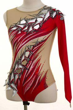 Leotard with skirt, dress 2620 Gymnastics Suits, Rhythmic Gymnastics Leotards, Ballet Leotards For Girls, Custom Leotards, Latin Dance Dresses, Figure Skating Dresses, Skirt Fashion, Fashion Outfits, Next Clothes