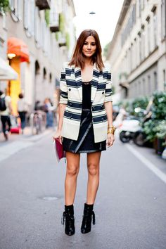 Structured blazers and stripes | Christine Centenera