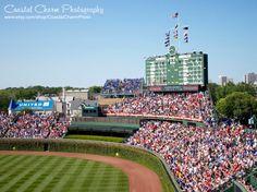 11x14 Wrigley Field Chicago Cubs Baseball by CoastalCharmPhoto, $20.00 #Chicago #Cubs #Wrigleyfield