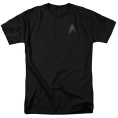 Star Trek Original Engineering Uniform Licensed Adult Long Sleeve T Shirt