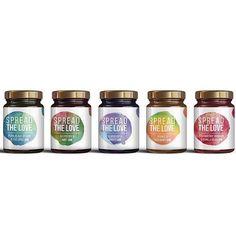 Jam labels designed by @aldershots_studio by packagingdesigninspo