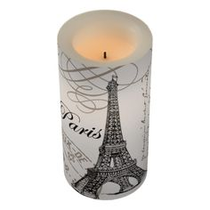 MODERN VINTAGE EIFFEL TOWER FLAMELESS CANDLE #candles #flamelesscandles #frenchdecor #homedecor AFFILIATE LINK
