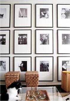Stylish ways to display black and white photos