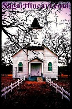 This is an old church in the country and inspiring image.  No logo on your print. Printed on archival paper  size 8X10 ready for framing,