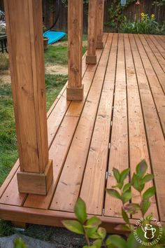 Ever thought about turning your concrete slab into a covered deck? It's definitely doable! Here are some thoughts, tips, & photos from our experience! Concrete Slab Patio, Deck Over Concrete, Wood Patio, Concrete Cover, Concrete Steps, Concrete Driveways, Diy Deck, Diy Patio, Diy Porch