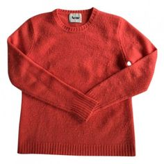 Pink Wool Knitwear ACNE STUDIOS ($105) ❤ liked on Polyvore featuring tops, sweaters, red top, acne studios, knitwear sweater, red wool sweater and pink top