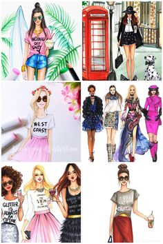 Fashion illustrator Rongrong DeVoe blog giveaway with fashion blogger The Style Lynn life