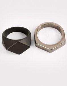 Pull&Bear - hombre - accesorios - pack anillos variados - varios - 09995506-I2016