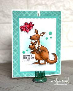 Kangaroo Gatefold | Day 1 Wendy Hate Winter Series | Luvin Stampin